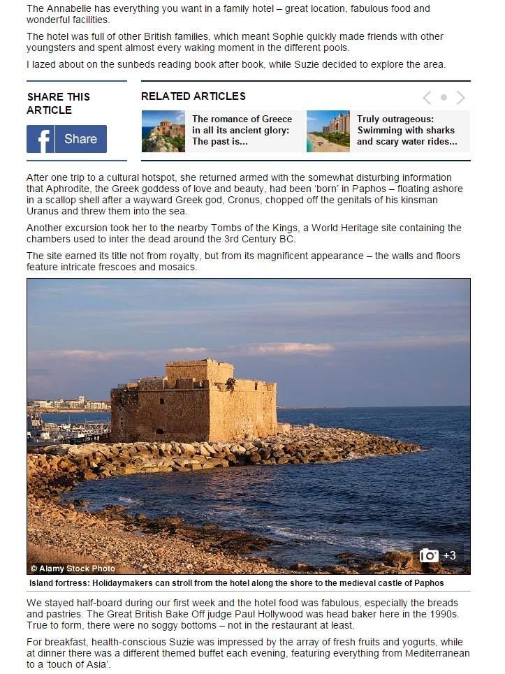 Hotel Annabelle Wedding Discos Cyprus